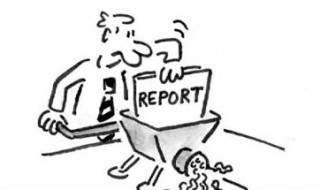 School Report Cartoon